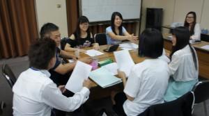 中国大学生と意見交換