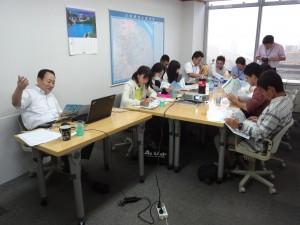 茨城県上海事務所での講義の様子
