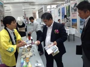 ジェトロ上海事務所の三根所長と意見交換