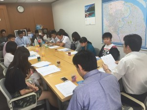 茨城県上海事務所での講義